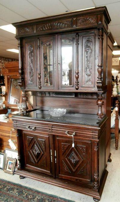 Just in! Beautiful Open Primitive Step Back Cupboard $1295 - Home