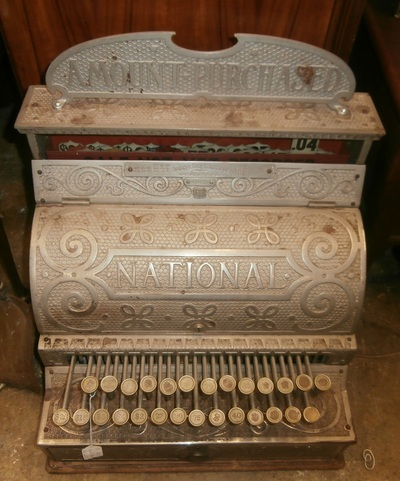 1893 Antique Nickel & Brass Cash  Register...................................$1500.00 National Cash Register  Company (NCR) Dayton. Ohio - Home